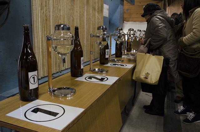 河内酒造蔵開き 利き酒