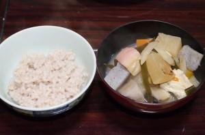 赤米と豆酘雑煮